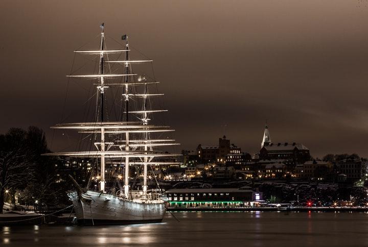 Nattvy över Stockholm